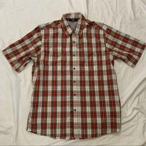 Wrangler Lightweight Short Sleeve Plaid Shirt Sz M